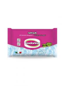 Salviette inodorina refresh profumo talco pz.40