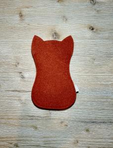 Portaocchiali gatto in lana cotta