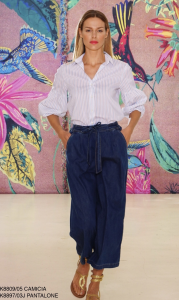 Pantalone coulotte di jeans