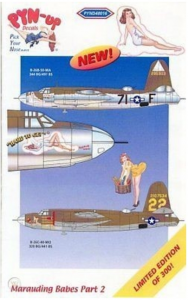 B-26 Marauding Babes Part 2 PYN-UP Decals PYND48016