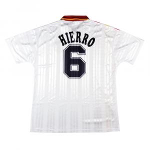 1994 Spagna Maglia #6 Hierro Match Worn World Cup C.O.A