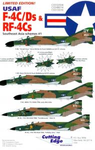 USAF F-4C/Ds & RF-4Cs Southeast Asia schemes #1 Cutting Edge Modelworks CED48014
