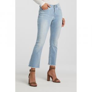 Jeans a trombetta sfrangiato