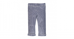 pantalone in rasatello stretch vichy