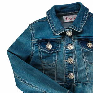 Giubbino in denim stretch 4/14 anni