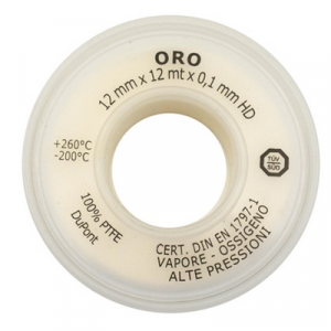 NASTRO PTFE ORO 12MM x 12MT x 0.10mm                                   Oro