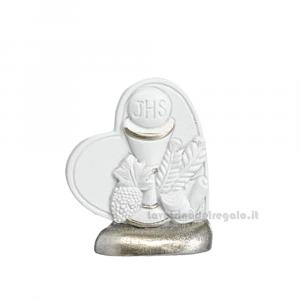 Icona Cuore con Calice in resina 5.5 cm - Bomboniera comunione