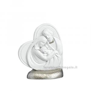 Icona Cuore con Sacra Famiglia in resina 5.5 cm - Bomboniera