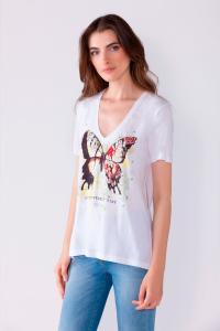 T-shirt stampa farfalla