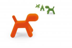Puppy, cane astratto scultura; Magis