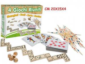FATTO DI LEGNO - GIOCHI 4 RIUNITI C/COFANETTO