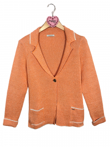 giacchina arancio e bianco melange