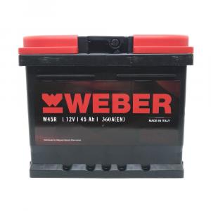 W45R BATTERIA WEBER (MAGNETI MARELLI) 45 AH 360A 207x175x190 mm