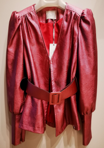 Giacca Eco fashion con cintura e scollo V 12084