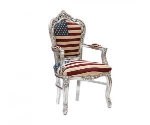 Poltrona barocco argento bandiera americana