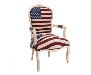 Poltrona barocco bianco bandiera americana