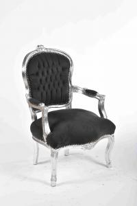 Poltrona barocco argento nero
