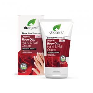 Dr. Organic Rose Otto Hand & Nail Cream 125ml