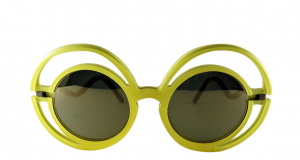 Occhiale da sole plastic de lux mod. Chantal-yellow