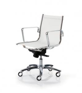 Sedia da ufficio con braccioli Light, Luxy