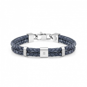 Bracciale Nomination Tribe in Pelle Blu
