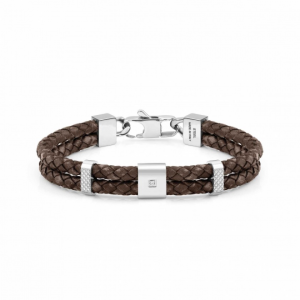Bracciale Nomination Tribe in Pelle Marrone
