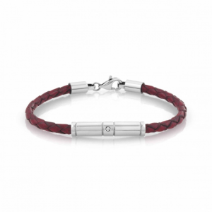 Bracciale Nomination Tribe in Pelle Rossa