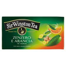 SIR WINSTON TEA - TE' VERDE CON ZENZERO E ARANCIA