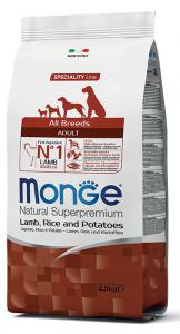 MONGE All Breeds Adult Agnello, Riso e Patate 2,5KG