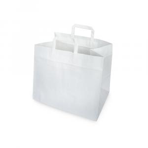 Shopper carta fondo largo per asporto maxi - bianco