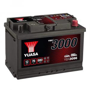 BATTERIA YUASA 12V 76Ah 680A 680EN - YBX3096 POSITIVO A DX