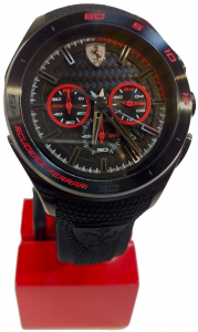 Gran Premio Chronograph Silicon Strap Black Red