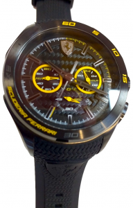 Gran Premio Chronograph Silicon Strap Black Yellow