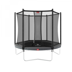 Trampolino Tappeto Elastico BERG Favorit + Safetynet Comfort - Grigio