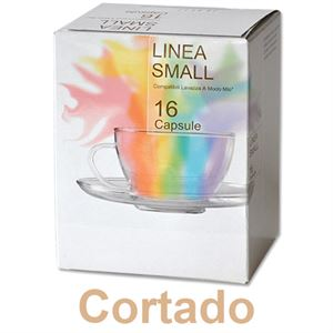LINEA SMALL - 16 CAPSULE CAFFE' CORTADO MACCHIATO (COMP. A MODO MIO)