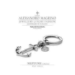 Portachiavi Maria Cristina Sterling Collezione Neptune