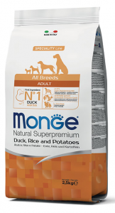 MONGE All Breeds Adult Anatra, Riso e Patate 12KG