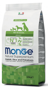 MONGE All Breeds Adult Coniglio, Riso e Patate 12KG