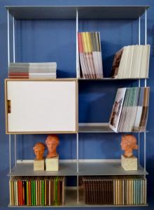Krossing scaffale libreria finitura alluminio 67x100x15 cm; Kriptonite