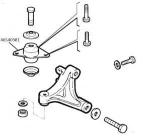 Tassello elastico supporto cambio Fiat Palio, ORIGINALE 46540381