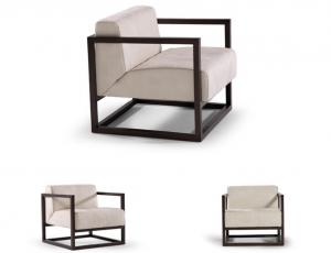 LORD - Poltrona con struttura cubica dal design moderno e minimalista