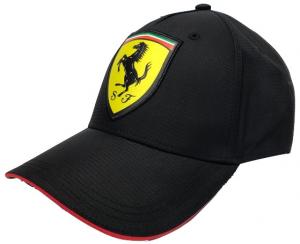 Scuderia Ferrari Adult Scudetto Carbon Cap Black