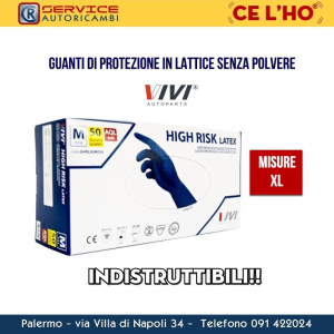 GUANTI IN LATTICE NO POLVERE VIVI AUTOPARTS MISURA XL