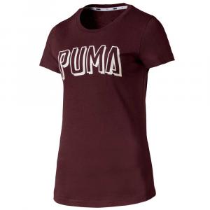 Puma T Shirt Basic Bordeaux/White da Donna