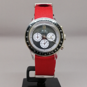 IKE MYTOY BIGTIME CRYSTAL CHRONO CANVAS RED