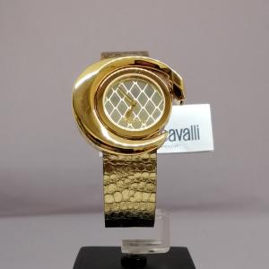 CAVALLI ROUND GOLD PELLE