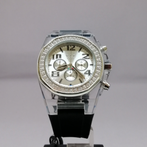 V.I.P. TIME CHRONO SILVER PVC BLACK