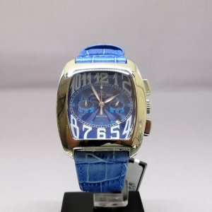 OFFICINA DEL TEMPO CHRONO BLU LEATHER SQ