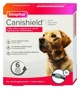 Collare antiparassitario per cani (pulci,zecche,flebotomi)beaphar