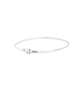 BRACCIALE BANGLE CON STOPPER Argento
